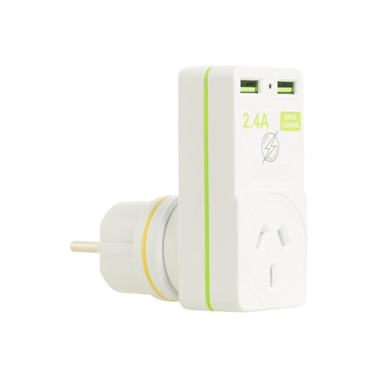 Korjo USB & Power Adaptor Euro/NZ