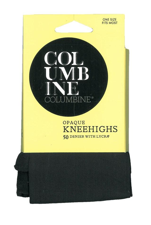 Columbine 50 Denier Opaque Knee Highs - fleet