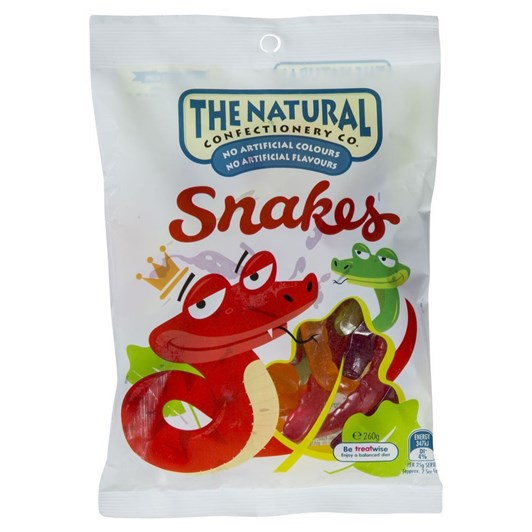 Natural Confectionery Snakes 260g