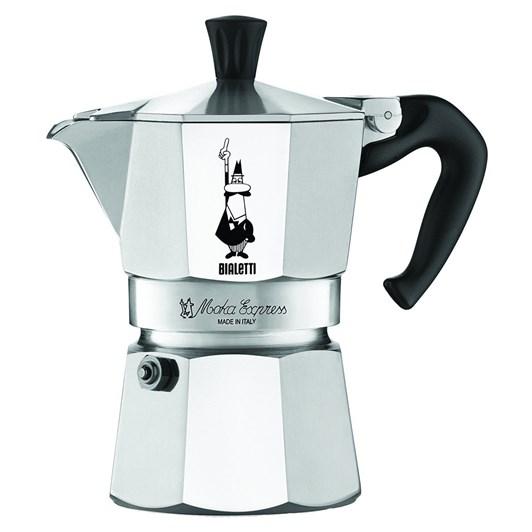 Bialetti Moka Express 3 Cup Italian Metal Stovetop Coffee Maker