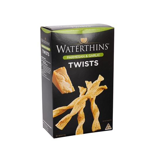 Waterthins Parmesan and Garlic Twists 110g