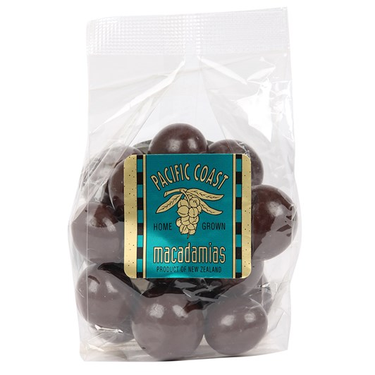 Pacific Coast Macadamias - Dark Choc Whole Nuts 140g