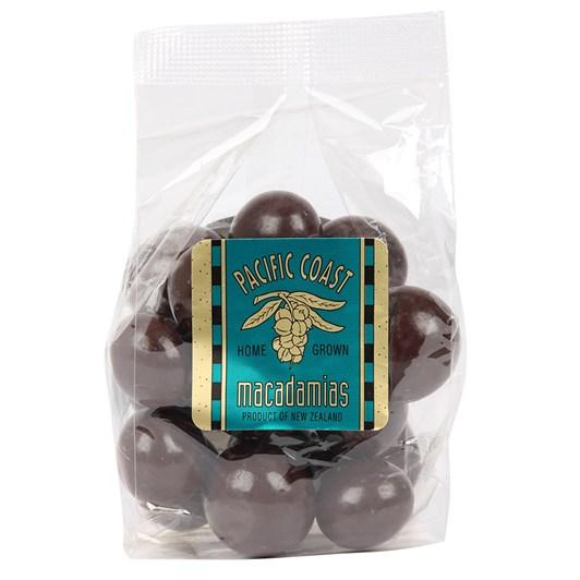 Pacific Coast Macadamias - Dark Choc Whole Nuts 140g