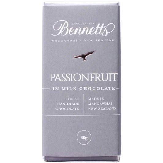 Bennetts of Mangawhai Passionfruit Milk Chocolate Bar 60g