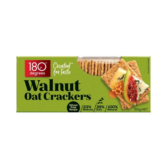 180 Degrees Walnut Oat Crackers 150g