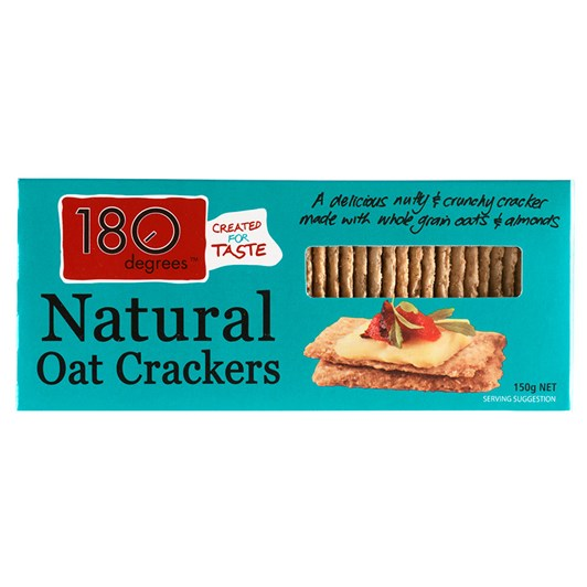 180 Degrees Natural Oat Crackers 150g