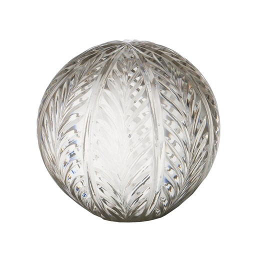 French Country Wing Cut Glass Ball 5""