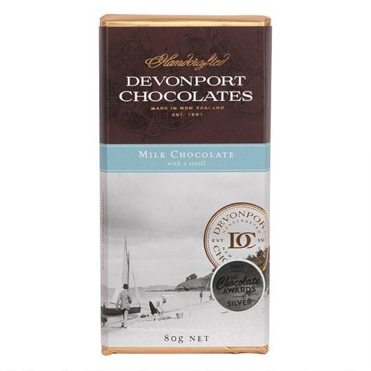 Devonport Milk Chocolate With A Stroll 80g