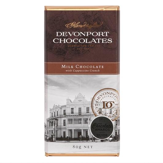 Devonport Chocolates Milk Chocolate With Cappucino Crunch 80g