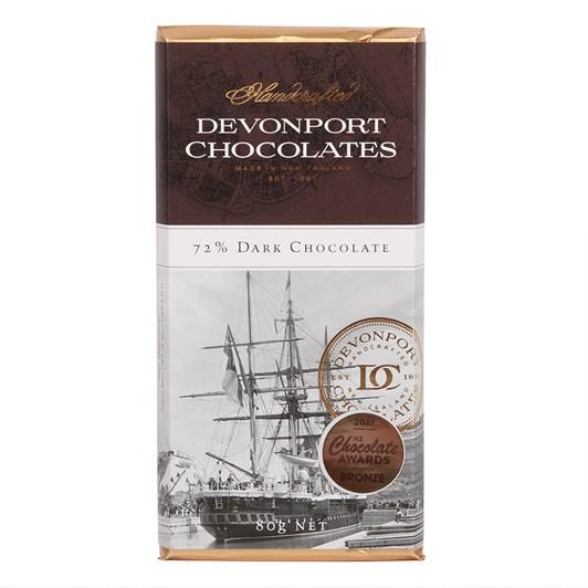 Devonport Chocolates 72% Dark Chocolate Bar 80g