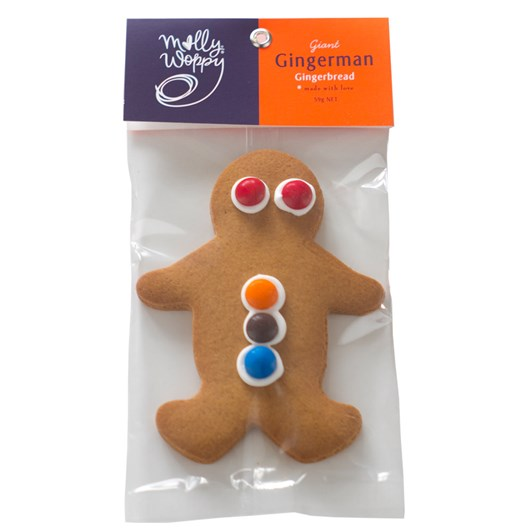 Molly Woppy Large Gingerbread Man Biscuits 64g