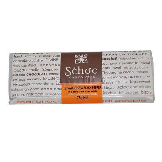Schoc Strawberry Black Pepper Chocolate Tablet 75g