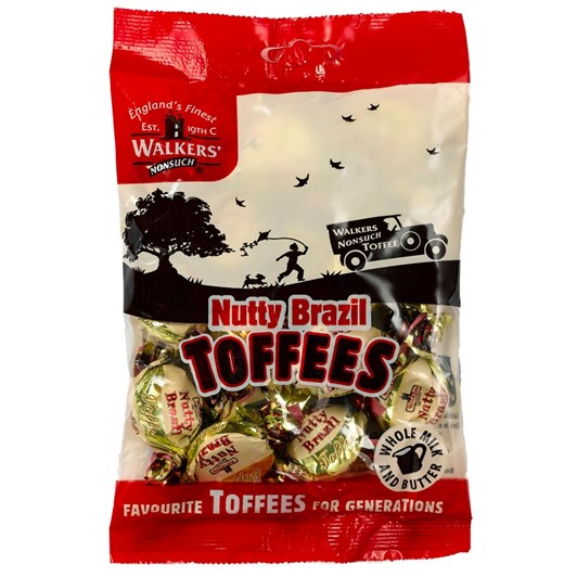 Walkers NS Bag Nutty Brazil Toffees 150g