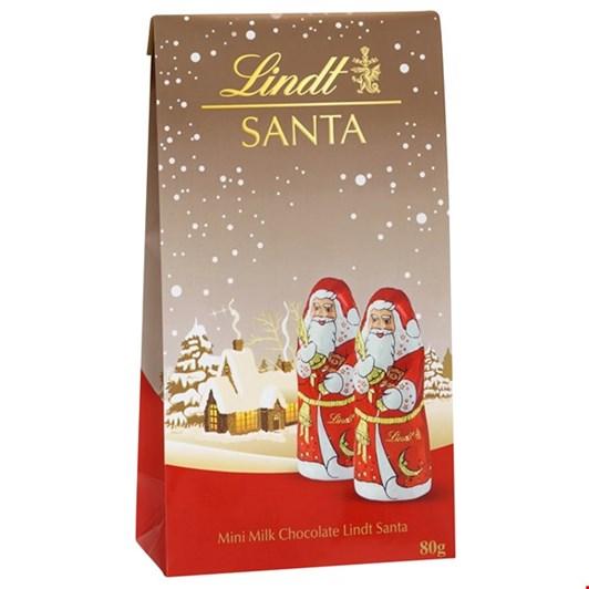Lindt Christmas Pouch Bag Mini Santas 80g