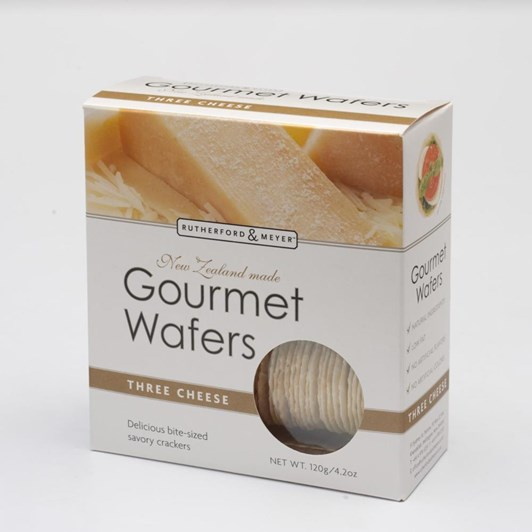 Rutherford & Meyer Gourmet Wafers - Three Cheeses 120g