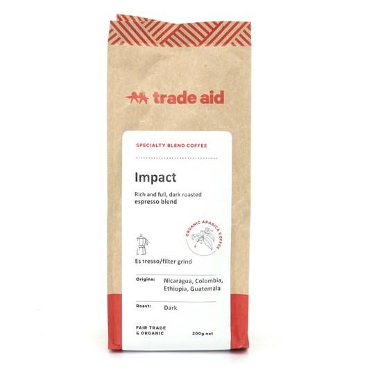 Trade Aid Organic Coffee Impact Blend Espresso Ground 200g