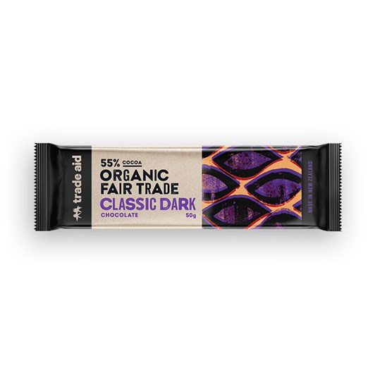 Trade Aid Organic 55% Classic Dark Chocolate 50g