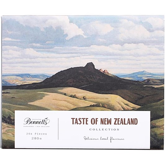 Bennetts Taste of New Zealand Box 20 Assorted Chocolates 280g