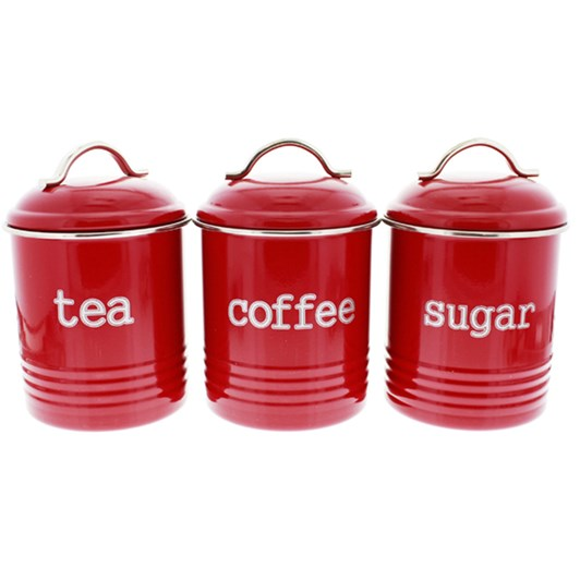 D.Line Cannister: Tea, Coffee, Sugar 1 Litre