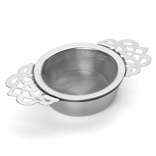 D.Line Vintage Stainless Steel Tea Strainer with Drip Bowl