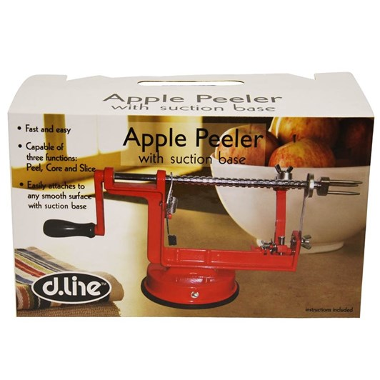 D.Line Apple Peeler With Vacuum Base - Red