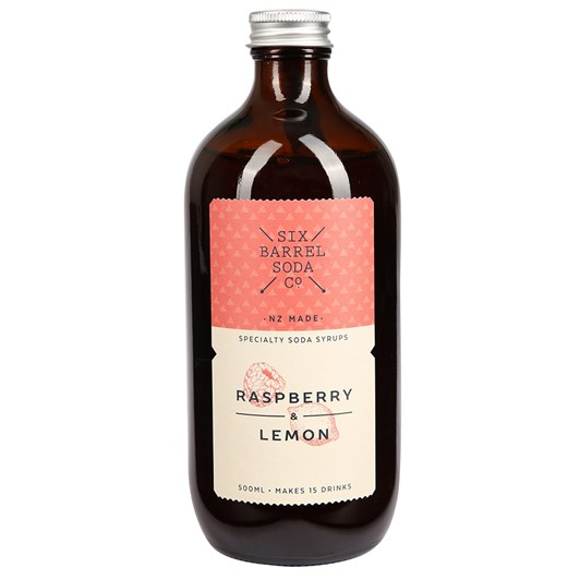 Six Barrel Soda 500ml - Raspberry & Lemon