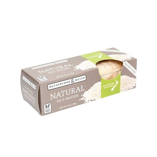 Rutherford & Meyer Rice Wafers Natural 120g