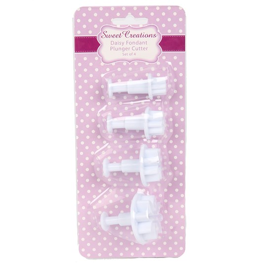 Sweet Creations Daisy Fondant Plunger Cutter Set 4