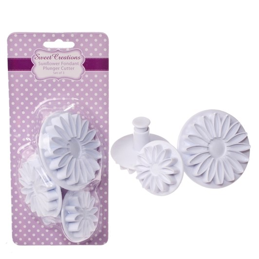Sweet Creations Sunflower Fondant Plunger Cutter Set 3