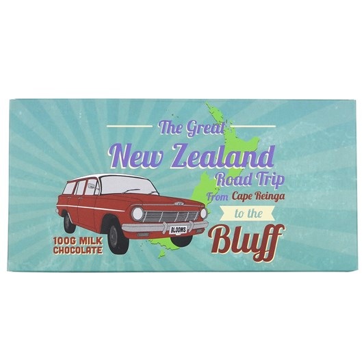 Bloomsberry The Great NZ Road Trip Milk Chocolate Bar