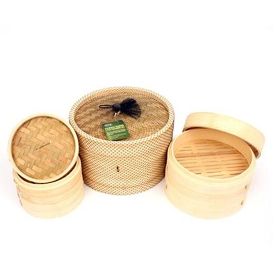 D.Line Bamboo Steamer 3 Piece 25cm