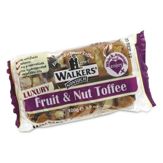 Walkers Toffee Bar Fruit & Nut 100g