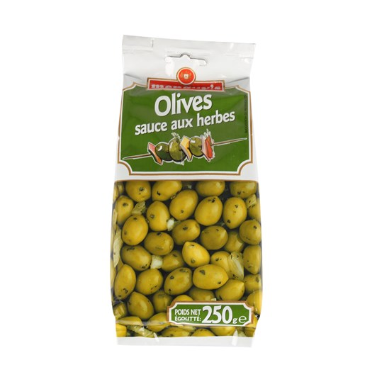 Menguys Green Olives with Herbs 250g