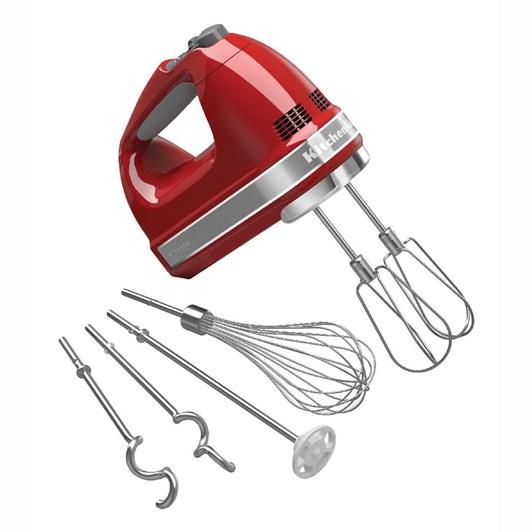 KitchenAid Empire Red KHM926 Artisan 9 Speed Hand Mixer