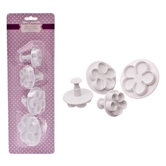 Sweet Creations Rose Fondant Plunger Cutter