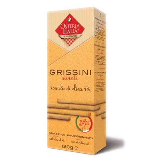 Osteria Italia Classic Grissini With Extra Virgin Olive Oil 120g