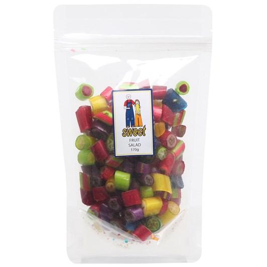 Sweet Fruit Salad Rock Candy Bag 170g