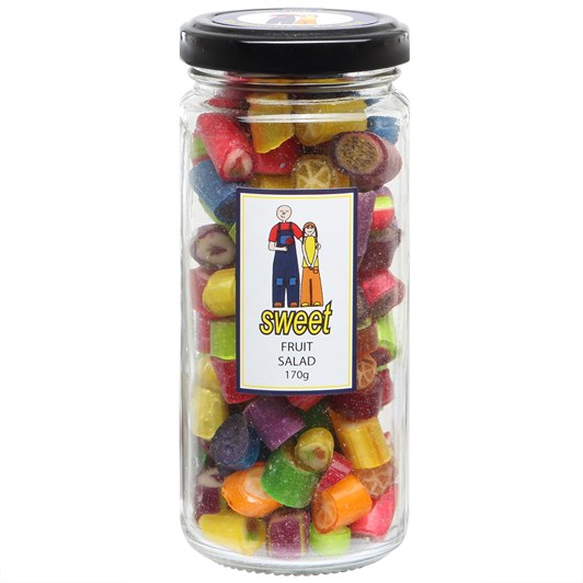 Sweet Fruit Salad Rock Candy Jar 170g