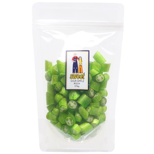 Sweet Sour Apple Rock Bag 170g