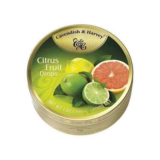 Cavendish & Harvey Citrus Fruit Drops Tin 200g
