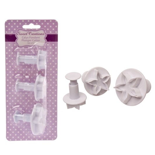 Sweet Creations Calyx Fondant Plunger Cutters Set of 3