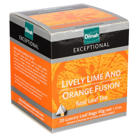 Dilmah Exceptional Lively Lime & Orange Fusion (Black) 20 Teabags
