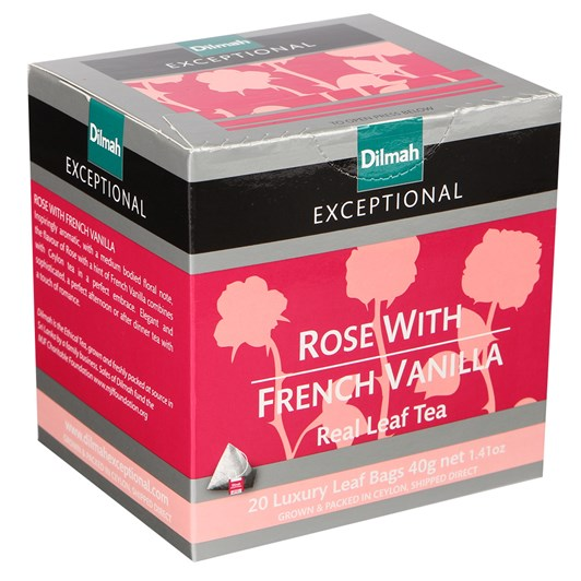 Dilmah Exceptional Rose With French Vanilla (Black) 20 Teabags