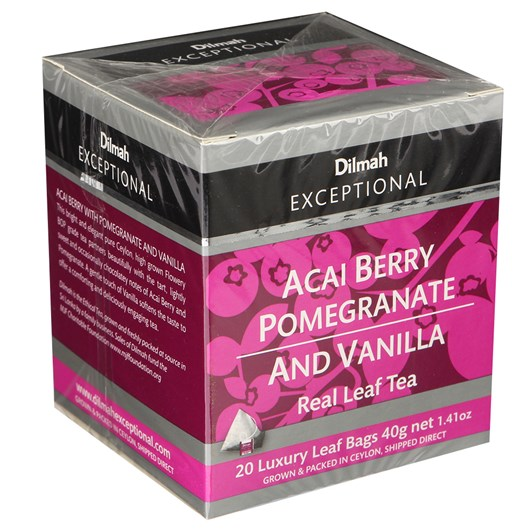Dilmah Exceptional Acai Berry Pomegranate & Vanilla (Black) 20 Teabags