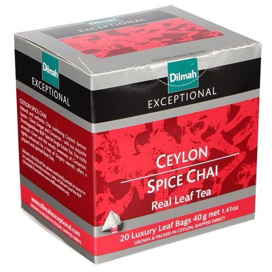 Dilmah Exceptional Ceylon Spice Chai (Black) 20 Teabags
