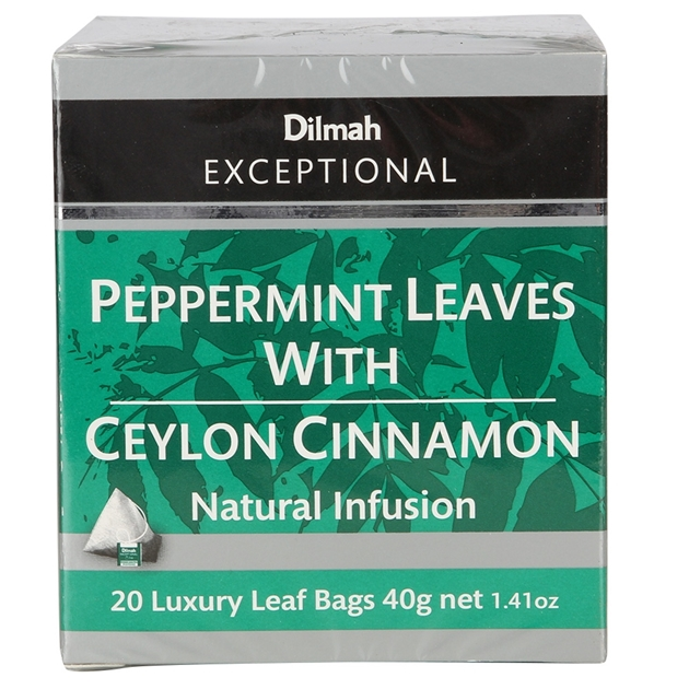 Dilmah Exceptional Peppermint Leaves with Ceylon Cinnamon 20 Teabag -