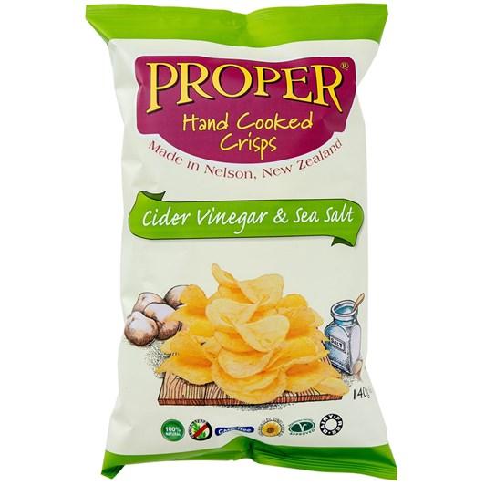 Proper Crisps Cider Vinegar And Sea Salt 140g
