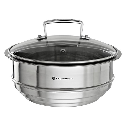 Le Creuset 3 Ply Multi Steamer with Glass Lid