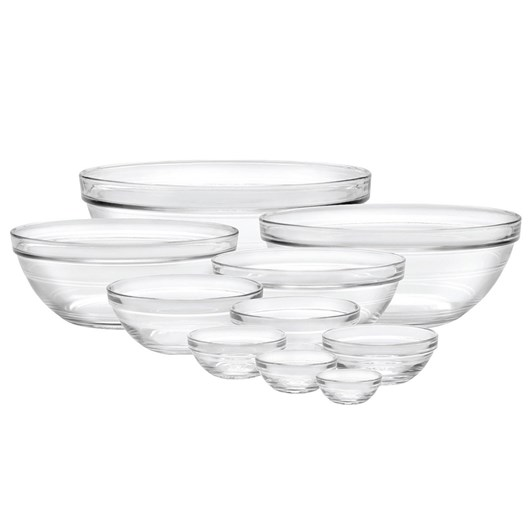 Duralex Lys Clear Stackable Bowls