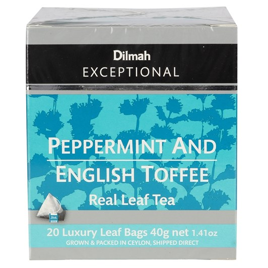 Dilmah Exceptional Peppermint With English Toffee - 20 Teabags